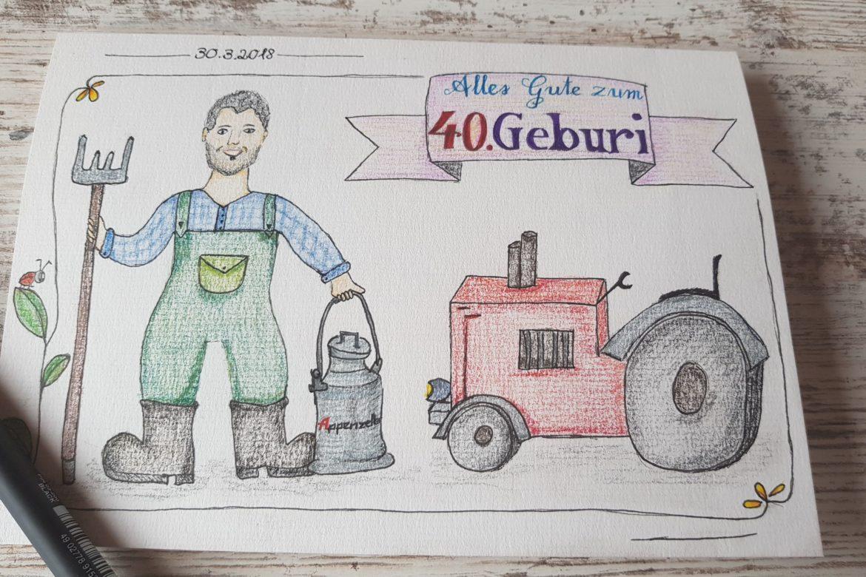 Geburtstag – Bauer – 40 Jahre