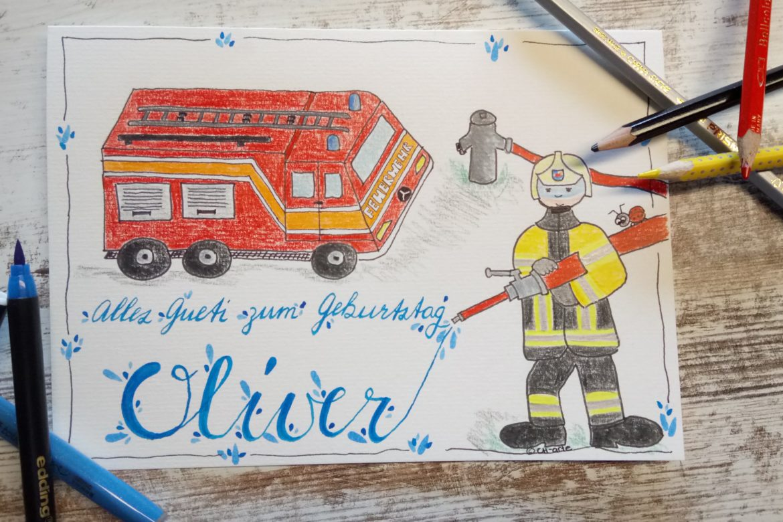Geburtstag Feuerwehrfan