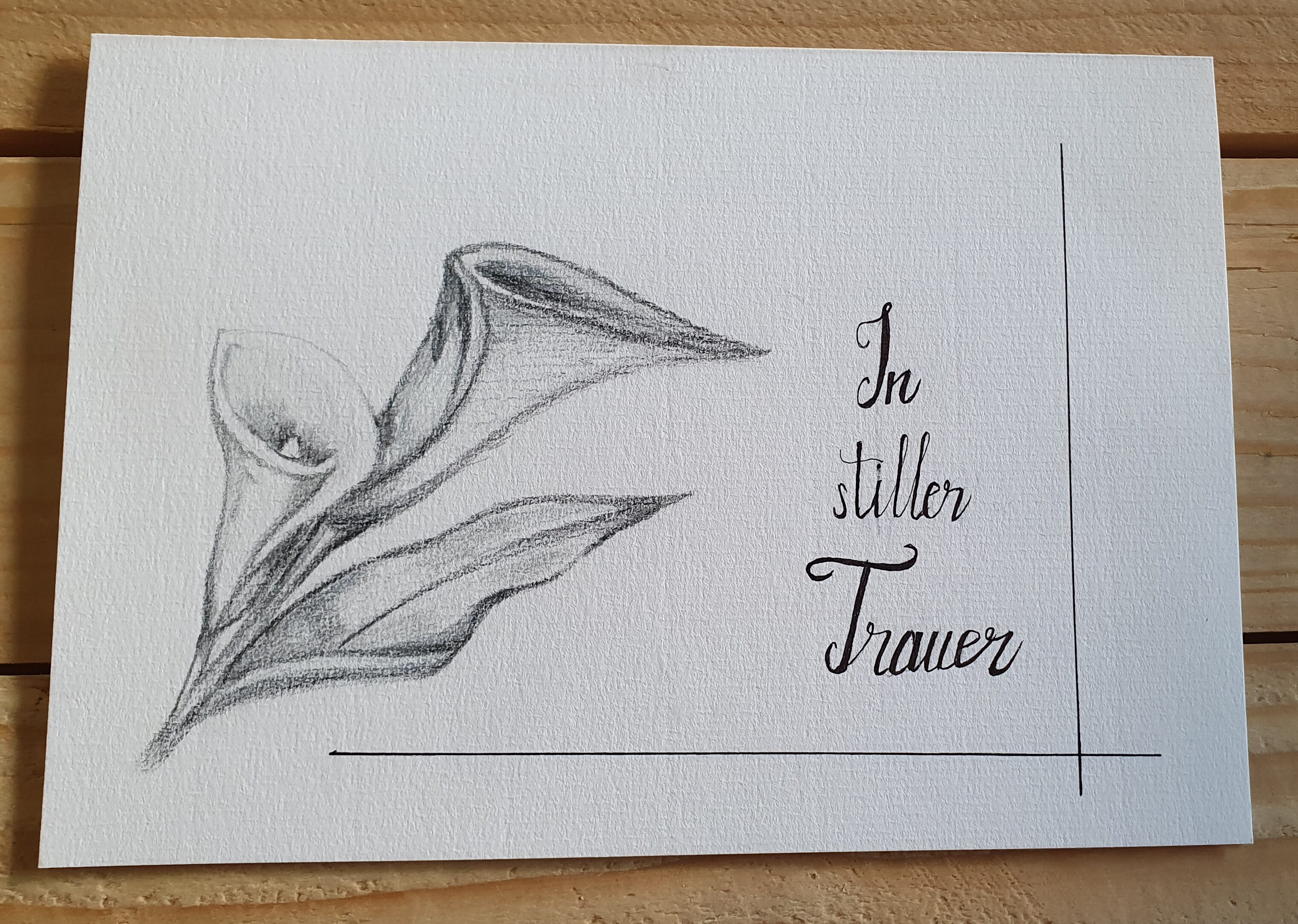 Trauerkarte – Calla